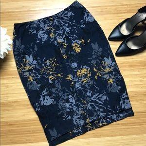 Lysse via Stitch Fix Floral pencil skirt